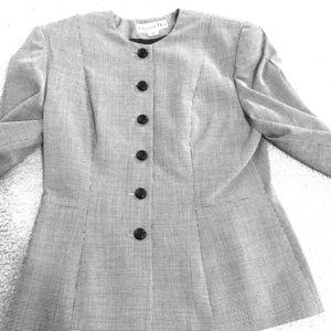 Christian Dior Vintage Houndstooth Suit - 12